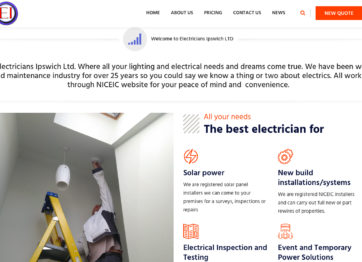 Website re-build for Electricians-Ipswich.co.uk