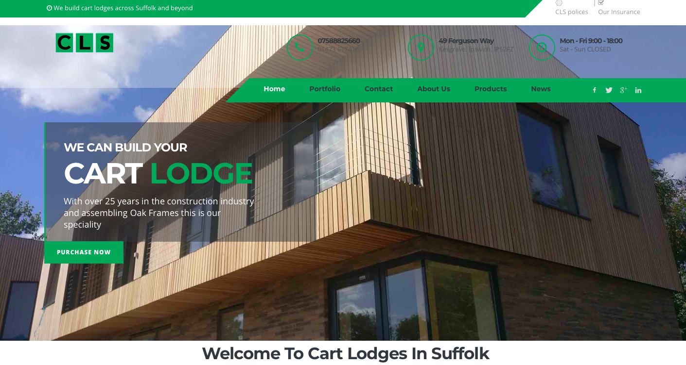 Cart lodge Builders Suffolk